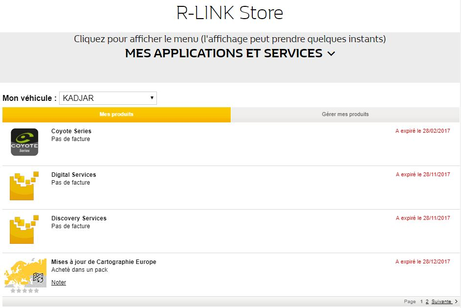 R-Link 2: 2017 06 map version available for 7 inch version