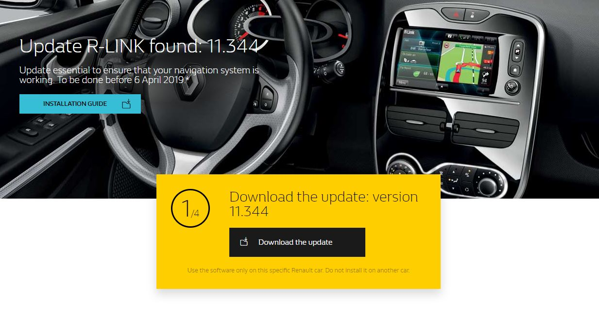 R-Link 1 and Carminat TomTom : important update! – GPS R-Link